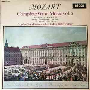 album Mozart, London Wind Soloists Directed By Jack Brymer - Complete Wind Music Vol. 2 mp3 download