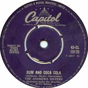 album The Andrews Sisters - I'll Be With You In Apple Blossom Time / Rum And Coca Cola mp3 download