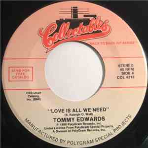 album Tommy Edwards - Love Is All We Need mp3 download