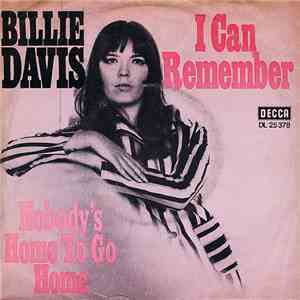 album Billie Davis - I Can Remember / Nobody's Home To Go Home To mp3 download