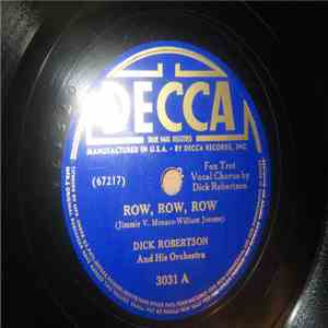 album Dick Robertson And His Orchestra - Row, Row, Row / All Alone mp3 download