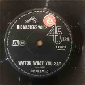 album Bryan Davies - Watch What You Say mp3 download